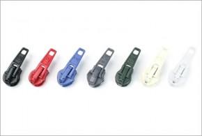 Reißverschluss-Automatikschieber Weiss