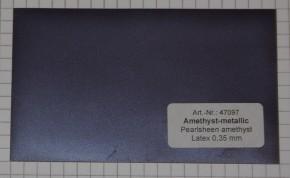 Latex Meterware Metallic Amethyst, 92 cm breit, 0,35 mm