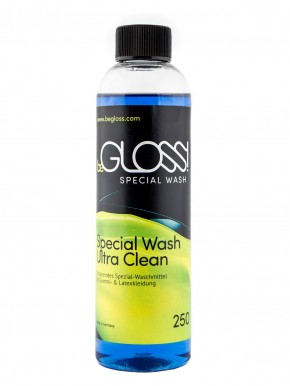 beGLOSS - Special Wash & Ultra Clean 250 ML - Schonendes Spezial - Waschmittel für Gummi & Latex Kleidung