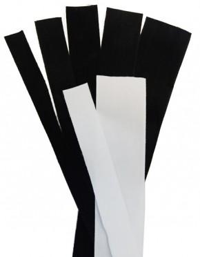 Textilstreifen Schwarz, 15 mm breit, Baumwolle